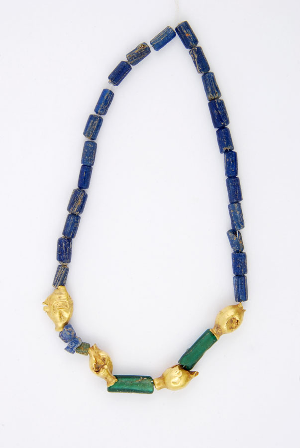 Necklace with Gold Beads