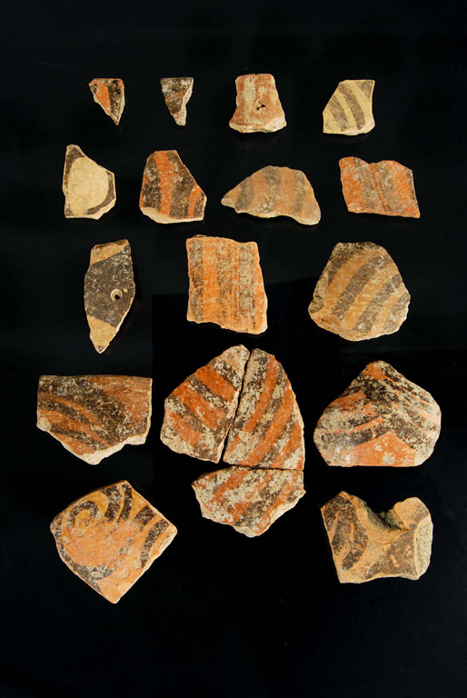 Fragments of ceramics